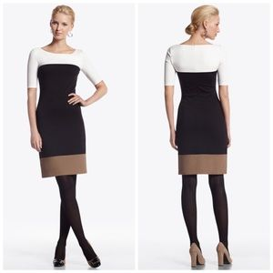 White House Black Market | Colorblock Ponte Dress